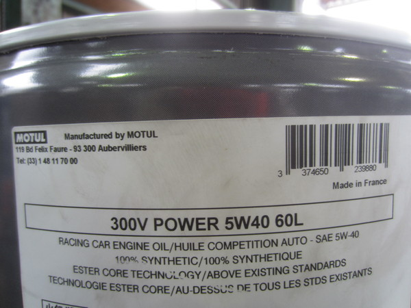MOTUL 300V Power lobel